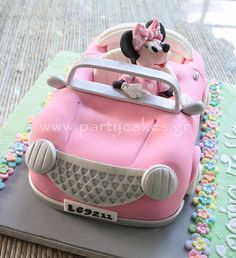 disney cakes and sweets free offer Minni Mouse Cake, Minnie Mouse Theme Party, Minnie Mouse Birthday Cakes, Birthday Cake Girls, Fondant Flower Cake, Fondant Bow, Fondant Tutorial, Fondant Cakes, Cakes Without Fondant