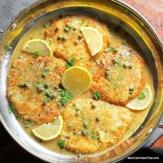 Low carb pork piccata features tender boneless pork loin medallions cooked until crisp and served with a delicious lemon butter caper sauce. No egg recipe. Pork Picatta Recipe, Pork Cutlet Recipes, Cutlets Recipes, Pork Chop Recipes, Paleo Recipes, Low Carb Recipes, Cooking Recipes, Savoury Recipes, Chicken Recipes