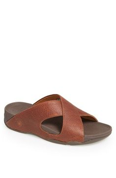 351a38d40 FitFlop Xosa™ Leather Slide Sandal (Men)