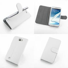 PDair Ultra Thin Leather Case for Samsung Galaxy Note II GT-N7100 - Book Stand Type (White)