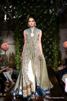 Pakistani Fashion Designer Saadia Mirza presented her 'Nur Ul Ain' collection in Lahore
