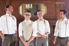 Groom vest: (and suit jacket) groomsmen: vest or suspenders Groomsmen Attire Suspenders, Groom Vest, Bridesmaids And Groomsmen, Groom Attire, Vintage Groomsmen Attire, Groom Suits, Wedding Men, Wedding Groom, Vestidos