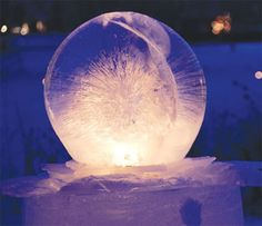Wintercraft® Ice Globes Make a fire-in-ice to light your way. These do-it-yourself luminary ice globe kits. How To Make Fire, How To Make Lanterns, Fire And Ice, Fruit Trees, Seasonal Decor, Holiday Decorations, Garden Inspiration, Garden Art, Winter Wonderland