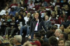 Head Coach Dawn Staley. Gamecocks defeat Vanderbilt 89-59. 2/15/2015