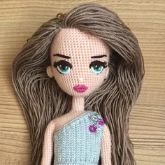 This Pin was discovered by Far Amigurumi Doll, Amigurumi Patterns, Plush Dolls, Doll Patterns, Crochet Eyes, Knit Crochet, Knitted Dolls, Crochet Dolls, Wedding Doll