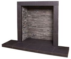 SLATE PORCELAIN TILED HEARTH (RIVEN FINISH) - MADE TO MEASURE FOR STOVES!