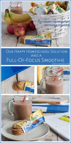 We are always looking for a solution for breakfast here. Our homeschool breakfast solution includes belVita biscuits because the kids love them and we are happy giving them to them. Check out the chocolate peanut butter banana smoothie recipe too! | Simplefood365.com #MorningWin #Target #CollectiveBias