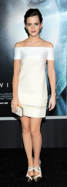 Emma Watson knows how the wear it - Chic white sheath dress.