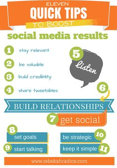 11 astuces pour booster les médias sociaux  via 11 Incredibly Easy Ways to Improve Social Media Results