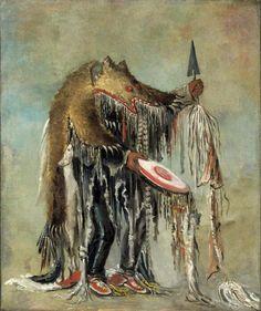 Blackfoot Medicine man, Catlin