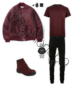 """""""Untitled #1891"""" by fashionlab9 on Polyvore featuring River Island, A BATHING APE, Timberland, AMIRI, King Ice, Movado, men's fashion and menswear"""