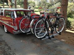 1958 New Yorker Wagon   1957 JC Higgins  1953 JC Higgins  1953 Western Flyer X-53 Cruiser Bicycle, Mode Of Transport, Old Bikes, Cool Bicycles, Vintage Bicycles, My Ride, Cool Cars, Motorcycle, Beach Cruisers