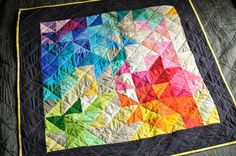 A Quilt for Yvonne (check out the back too!)