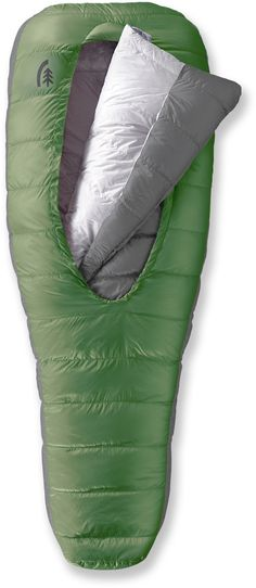 Really cool new style of sleeping bag. would be great for backpacking and hunting. - Sierra Designs Backcountry Bed 800 3-Season Sleeping Bag - Free Shipping at REI.com