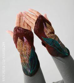 Felted Manschetten Felted Handschuhe von FeuerUndWasser auf Etsy