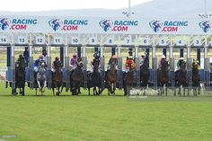 The start of Nine Mile Fresh Maiden Plate at Racing.com Park Racecourse on October 08, 2016 in Pakenham, Australia.