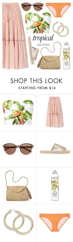 """""""Poppin' Papayas"""" by twenty-7 ❤ liked on Polyvore featuring Isolda, Gap, Witchery, Mint Velvet, Mar y Sol, Australian Gold, Kisuii and TropicalVacation"""