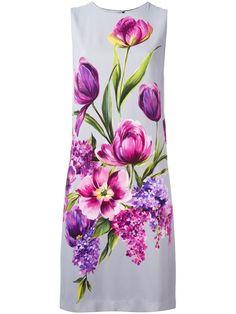 Dolce & Gabbana floral bouquet print dress