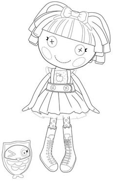 25 Best Lalaloopsy Coloring Page Images