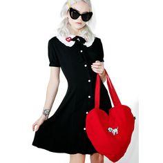Lazy Oaf X Disney 101 Dalmatians Puppy Dress ($115) ❤ liked on Polyvore featuring dresses, short sleeve dress, flounce dress, flouncy dress, frilly dresses and flutter-sleeve dress