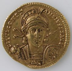 Gold Solidus of Constantine II. Date: 337–361. Culture: Byzantine. | © 2000–2015 The Metropolitan Museum of Art.