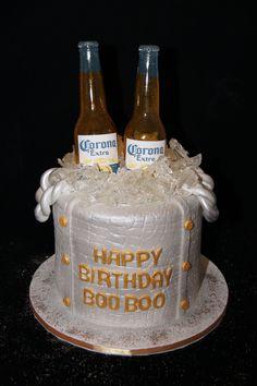 3D Corona beer bucket cake