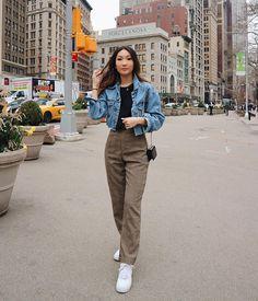 Korean Outfit Street Styles, Korean Outfits, Retro Outfits, Classy Outfits, Stylish Outfits, Fashion Outfits, Korean Girl Fashion, Korean Fashion Trends, Korean Street Fashion
