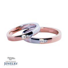 Set verighete cu Diamant PAL-VEG-005   Set verighete cu Diamant(6.70g 5.40g) Wedding Rings, Engagement Rings, Jewelry, Diamond, Jewellery Making, Wedding Ring, Enagement Rings, Jewelery, Engagement Ring