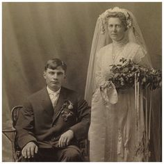 Cabinet Card-Bride With Exquisite Scandinavian Style Bridal Headpiece, Elaborate Bouquet And Shoes With Buckles