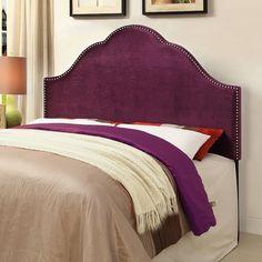 Pulaski Glamour Upholstered Headboard, Purple