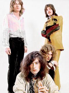 Led Zeppelin photographed by Ron Raffaelli, 1969. (via)