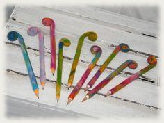 .  witzigbunte eingefiltze Bleistifte    Sehr geeignet für Schreibanfänger, da der Stift dadurch etwas breiter und weicher ist. Aber auch für jene ...