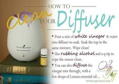 Tip ~ Keep your diffusers in good running condition by cleaning them regularly. Here's how to clean your diffuser.