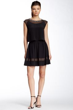 Faux Gem Silk Dress by Madison Marcus on @HauteLook
