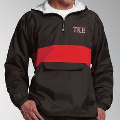 85646194ce64 Campus Classics - Teke Black and Red Striped Cotton-Lined Nylon Pullover    45.95 Alpha