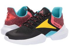 ed20b265ccb Reebok Split Fuel Men s Running Shoes Black True Grey Bright  Rose Yellow Blue White