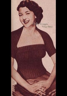 Instant downloads! 1951 Sunflower Tube Top and Bolero  This pattern is only $3.00!  What's awesome is it's a two piece and can be worn separately....and it's back in style!