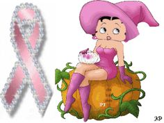 Animated Betty Boop Think Pink Halloween