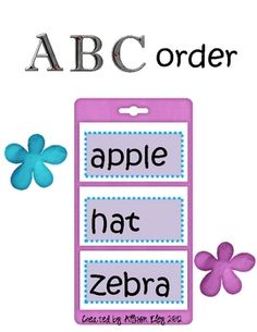 Cute ABC order activity
