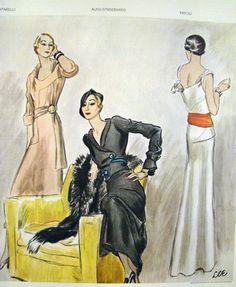 Original Vintage Fashion Illustration LHJ 1933 Illus Lee Creelman Erickson   eBay