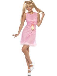 Women/'s Brown Sporty Spice Wig Music Icon 1990/'s Fancy Dress Girl Power Wig Hen