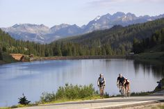 Grab your bikes and head out--there are many trails to explore in Vail.  Photo courtesy of Vail Convention and Visitors Bureau