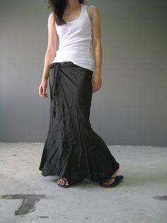 mermaid wrap skirt  dark gray color by thaitee on Etsy