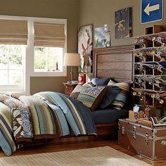 Hampton Planked Bed + Headboard #potterybarnteen