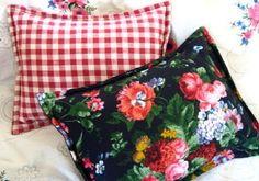 ralph lauren isadora cosetee | Ralph Lauren fabric CUSTOM BOUDOIR Shams ISADORA COSSETTE FLORAL / RED ...