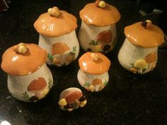 Mushroom Canisters from the 70's