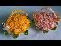 Chocolate Flowers Bouquet, Flower Basket, Crochet Flowers, Crochet Top, Crochet Earrings, Projects To Try, Crochet Patterns, Clay, Bathroom Mat Sets