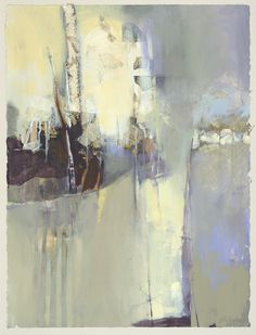 Joan Fullerton - Breathing Heaven - Abstracted landscape, mixed media and collage.
