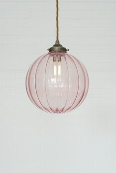 Dusky Pink Glass Fulbourn Pendant Light by Jim Lawrence 28 Bathroom Lighting Ideas to Brighten Your Style Bathroom Pendant Lighting, Bedroom Lighting, Bathroom Ceiling Light, Bedroom Ceiling Lights, Bathroom Light Fittings, Bedside Pendant Lights, Pink Ceiling, Glass Ceiling Lights, Ceiling Lighting