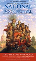 2010 Library of Congress National Book Festival Poster. Poster Artist: Peter Ferguson.